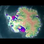 Flujo del hielo Antártico según la NASA