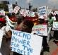 Manifestantes en la ciudad de Durban exigiendo un compromiso para el Cambio Climático. telegraph.co.uk