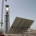 Almería construye la primera central solar de geometría variable