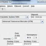 Conversor de coordenadas MSP Geotrans
