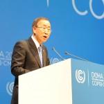 Ban Ki-moon insta en Doha a un compromiso global para reducir emisiones