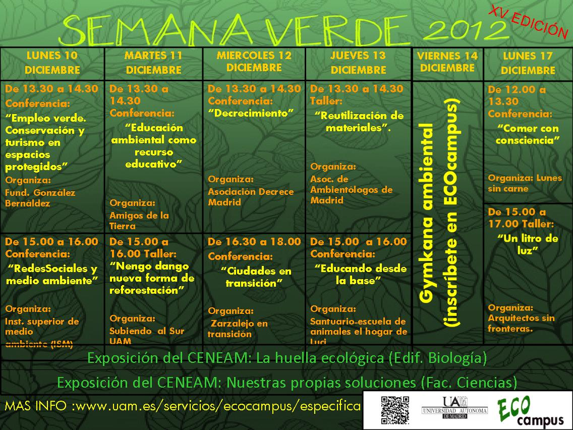 Semana Verde de la Universidad Autónoma   Comunidad ISM