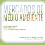 """Presentaciones """"Jornada Mercados de Medio Ambiente"""""""