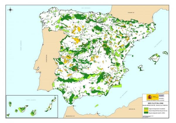 Mapa de la Red en España