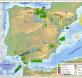 Mapa de Prospecciones, permisos y concesiones petrolíferas en  España en 2013