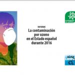 La contaminación por ozono en el Estado español durante 2016