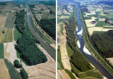 Renaturalización y descanalización del río Thur, Alemania. http://www.eawag.ch/