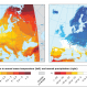 Climate change projections for Europe based on an ensemble of regional climate model simulations provided by the EURO-CORDEX initiative.
