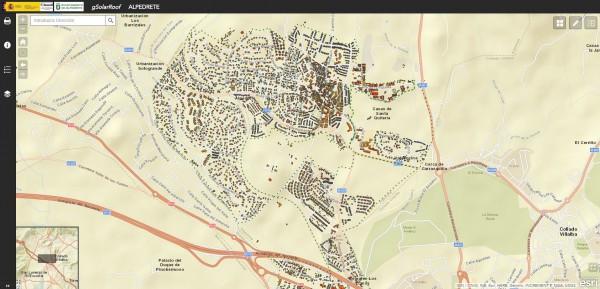Mapa Solar de Alpedrete