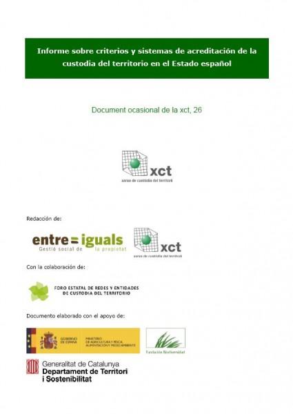 Informe sobre criterios y sistemas de acreditación de la custodia del territorio en el estado español