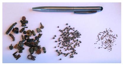 Materiales presentes en las escorias