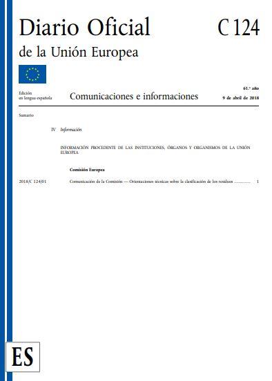 Orientaciones técnicas sobre la clasificación de los residuos