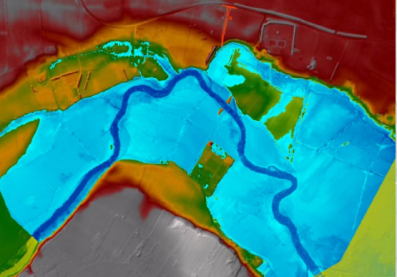 Modelo de riesgo de inundaciones en 2D en un proyecto en Reino Unido. Sergio Pérez
