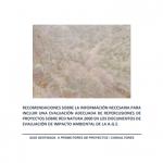 Recomendaciones sobre la información necesaria a incluir en una evaluación adecuada de repercusiones de proyectos sobre Red Natura 2000