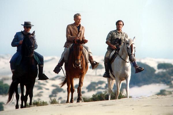 Antonio Chico, Tono Valverde y Félix Rodríguez de la Fuente en Doñana. 1967