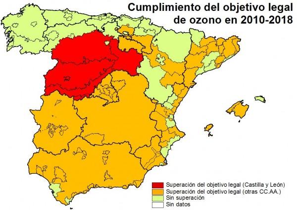 Mapa ozono España