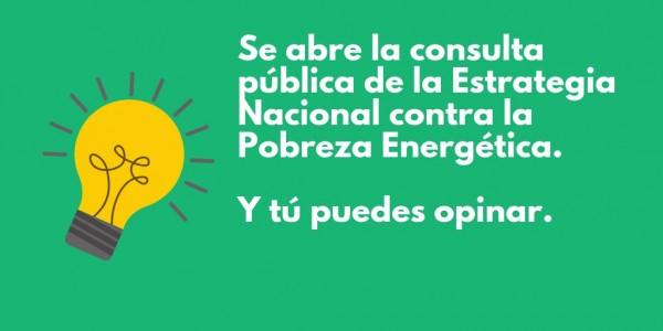 Borrador de Estrategia Nacional contra la Pobreza Energética