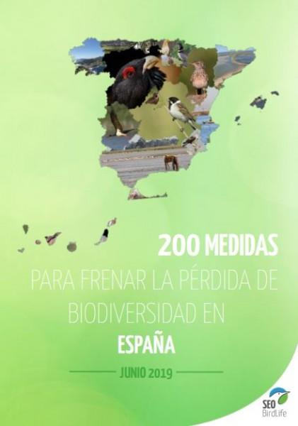 200 medidas para  frenar la perdida de biodiversidad españa