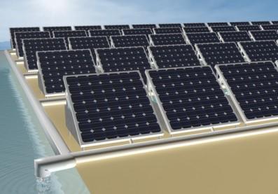 Recreación de una granja fotovoltaica que combina la generación de electricidad con la de agua dulce. / Wenbin Wang. Agencia Sinc