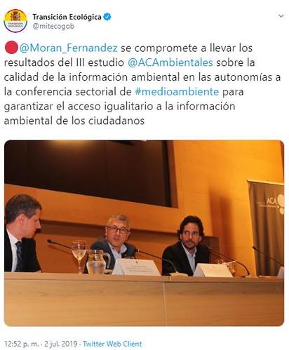 Hugo Morán, Secretario de Estado de Medio Ambiente