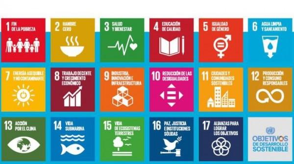 Los 17 objetivos de desarrollo sostenible aprobados en 2015.