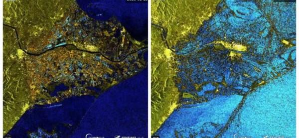 satelite sentinel inundaciones del ebro