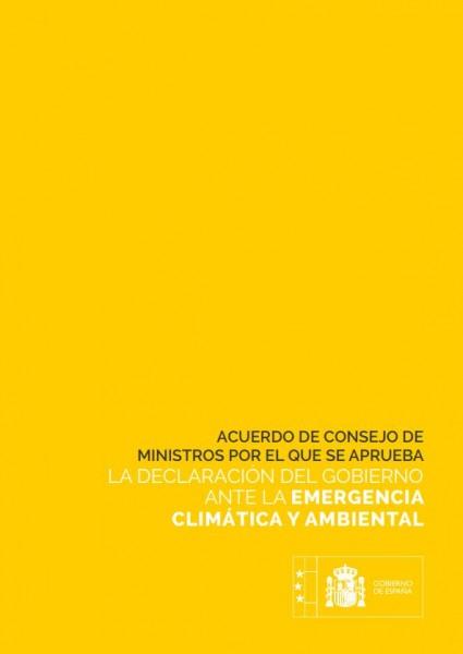 emergencia climatica gobierno españa
