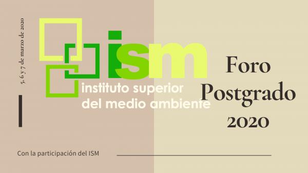 ism foro postgrado 2020