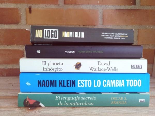 libros, naturaleza y medio ambiente