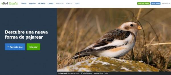 Web de la plataforma eBird