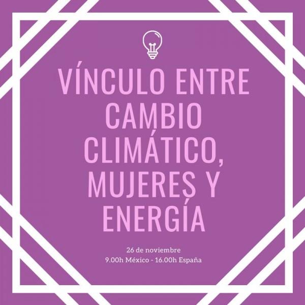 webinar mujeres, cambio climático y energía