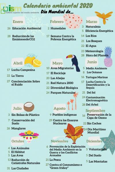 calendario ambiental 2020