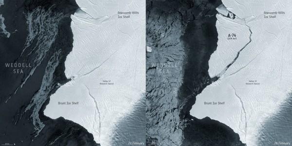 iceberg se desprende Antártida