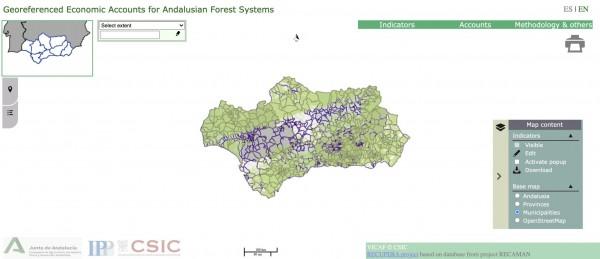 visor-cuentas-georreferenciadas-ecosistema-forestal-Andalucia_Recaman