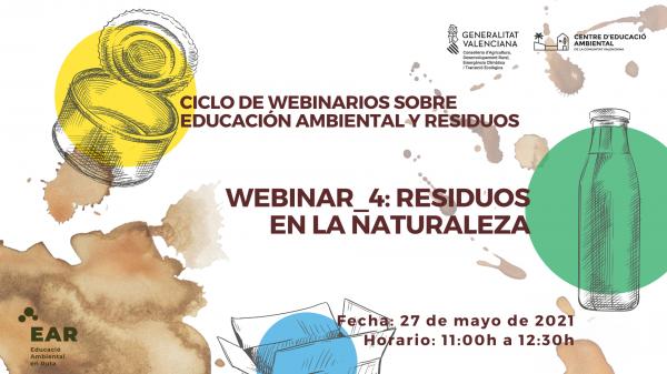 CICLO DE WEBINARIOS SOBRE EDUCACIÓN AMBIENTAL Y RESIDUOS